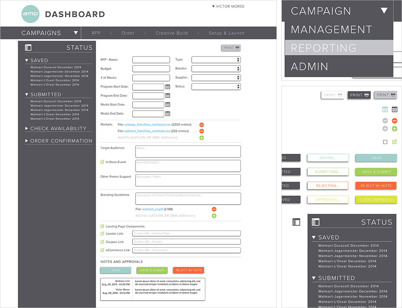 AMP Agency Dashboard